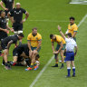 All Blacks coach puts heat on refs, accuses Wallabies of off-the-ball tactics