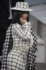 Cardi B in a modest mood at Paris fashion week earlier this month.