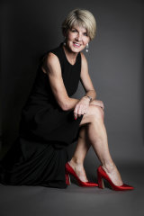 Julie Bishop wears the shoes she had on the day she resigned as foreign minister.