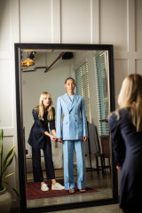 """Oscar Hunt's Amanda Crawford (left): """"You spend just as much [on tailoring] a garment that doesn't fit you."""""""