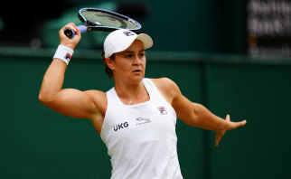 Ash Barty is into a maiden Wimbledon final.