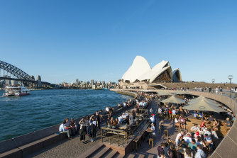 Sydney's Opera Bar in January.