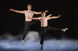 Aaron Smyth, left, and Wade Neilsen play Billy Elliot at different stages of his life.