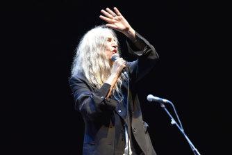 Patti Smith performing in Paris last August.