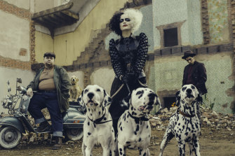 Emma Stone as the irrepressibly wicked Cruella.
