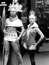 Models parade moon fashions in the Sydney CBD on July 14, 1969, in the lead-up to the Apollo 11 Moon landing.