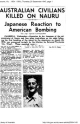Front page of The Age, September 20, 1945, with a photo of Dr Bernard Quin.