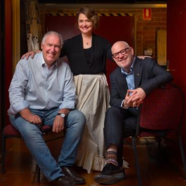 Steve Vizard (left), Emma Matthews, Paul Grabowsky.
