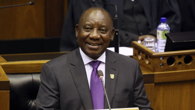 South Africa's new President, Cyril Ramaphosa, says the transfer of land from the country's white minority to the black majority will be handled without damaging the economy.