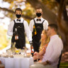 Posh picnics take off in Melbourne parks, complete with staff for the loo queue