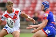 Gee whiz: Kalyn Ponga impressed at No.6 in the trial against the Dragons.