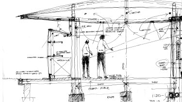 One of Murcutt's sketches for his MPavilion design.