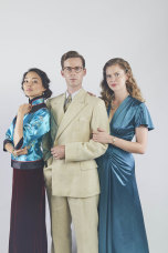 Elizabeth Tan, Luke Treadaway and Georgia Blizzard.