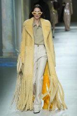 Bottega Veneta's take on fringing was incredibly plush.