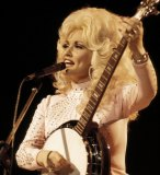 Dolly Parton on stage.