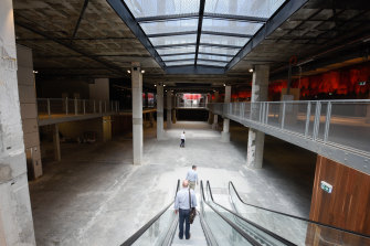 The basement of the old Myer building is still in the concept design phase but will center around entertainment.
