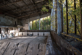 The Azure Swimming Pool in Pripyat was built in the 1970s and was used until 1998, mostly by the liquidators involved in the clean-up of Chernobyl.