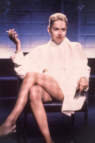 "Stone says she was tricked into the infamous ""flashing"" scene in the 1992 movie Basic Instinct."