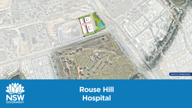 The site of the new hospital in Rouse Hill.