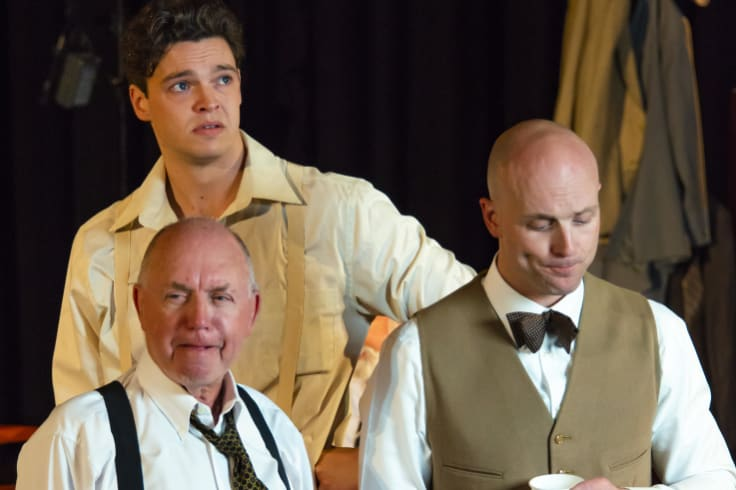 <i>12 Angry Men</i>: from left: Tony Turner, Alex Hoskisson, Isaac Reilly