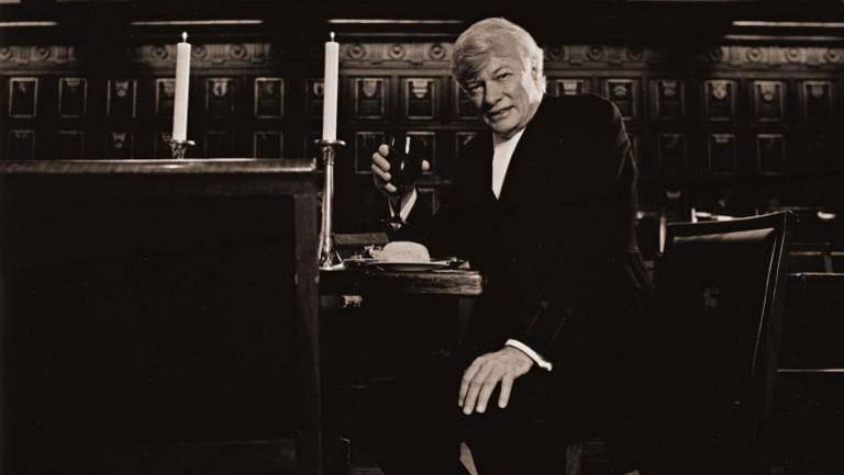 Geoffrey Robertson QC, human rights lawyer, photographed in Middle Temple Hall, London.