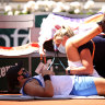 'It was an acute episode': Hip injury flares for Barty at French Open