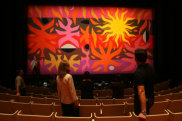 John Coburn's Curtain of the Sun in the Opera Theatre at the Sydney Opera House in 2006.