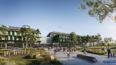 An artist's impression of the new hospital development in Rouse Hill.