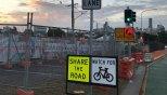 Roadworks are under way at Dutton Park.