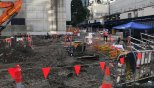One of two excavation sites on Brisbane's Albert Street where artifacts from Brisbane earliest days have been found.