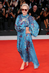 Meryl Streep wears Givenchy at last year's Venice Film Festival. ''She floated on to that red carpet,'' says her stylist, Micaela Erlanger.