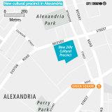 The 4-hectare precinct sits within Alexandria's industrial precinct.