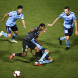 Sydney FC struggle to contain the English youngsters.