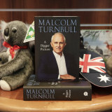 Malcolm Turnbull's A Bigger Picture on sale at the Parliament House gift shop in Canberra.