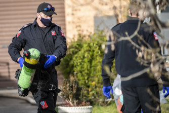 Authorities raided two properties in Picton on Tuesday.