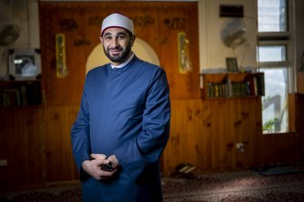 """Imam Alaa Elzokm says it is a """"religious obligation to protect the wider community"""" by getting the vaccine."""