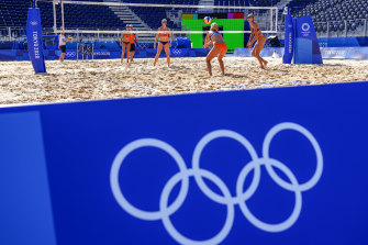 The very first match of the beach volleyball was cancelled on Saturday.