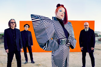 Shirley Manson with members of Garbage.