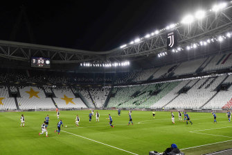 Inter Milan and Juventus played one of the biggest matches of the season in an empty stadium in Turin, with attendance at large sporting events banned in Italy until April as a coronavirus containment measure.