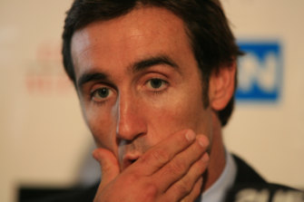 The best player of his generation... Andrew Johns in reflective mood.