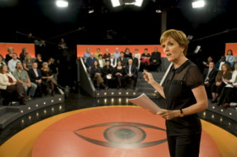 Brockie hosts an episode of Insight, which adopted its panel style in 2014.