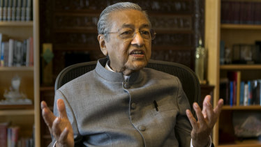 Dr Mahathir Mohamad, 92, former prime minister of Malaysia, is on the comeback trail.
