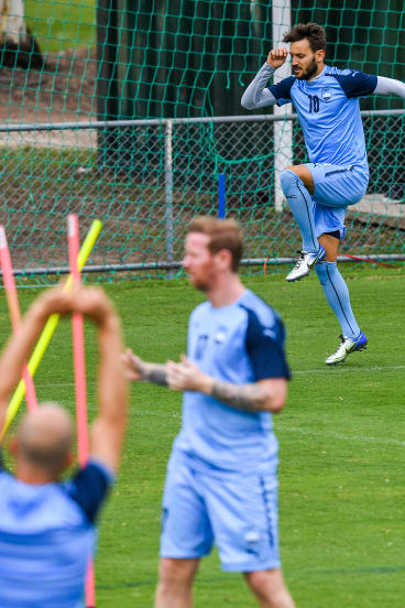 Own goal: Milos Ninkovic has been training apart from the rest of the squad.