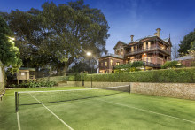 Heritage-listed Grandview includes a 17-metre pool and grass tennis court.