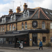 The Pizza Express restaurant in Woking, where Prince Andrew claimed he was with his daughter Beatrice on the night Virginia Roberts has alleged he was with her.