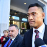 Israel Folau fronts Fair Work Commission for Rugby Australia mediation