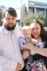 Phill and Kymberlee Smith with baby Keith