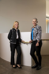 Investor Marla Brefka Heller of EY and entrepreneur Deb Noller of Switch Automation at the Women Funding Women event.