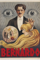A poster of the magician Bernardo in the Robbins Collection of Stage Magic.