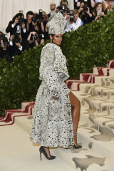 Celebrity following ... Rihanna wearing Christian Louboutin heels at the Met Gala.